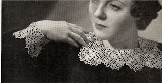 Floral Irish Crocheted Collar Pattern