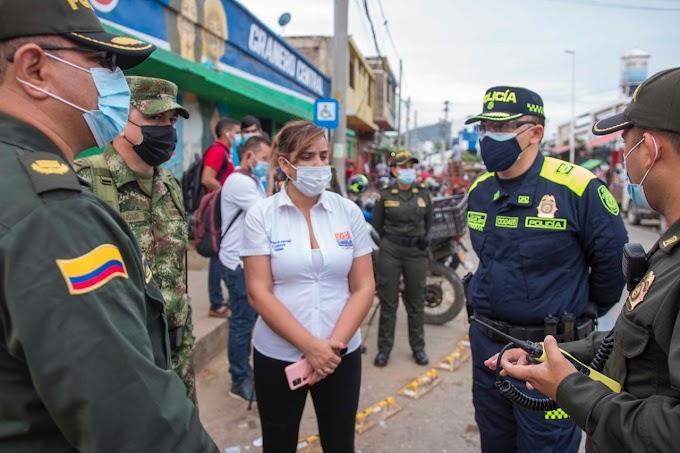 Alcaldía Distrital lidera intervención de seguridad en el Mercado Público