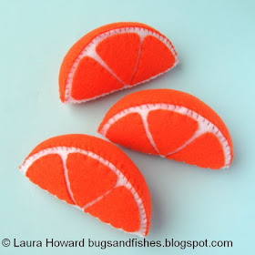 Felt orange slices