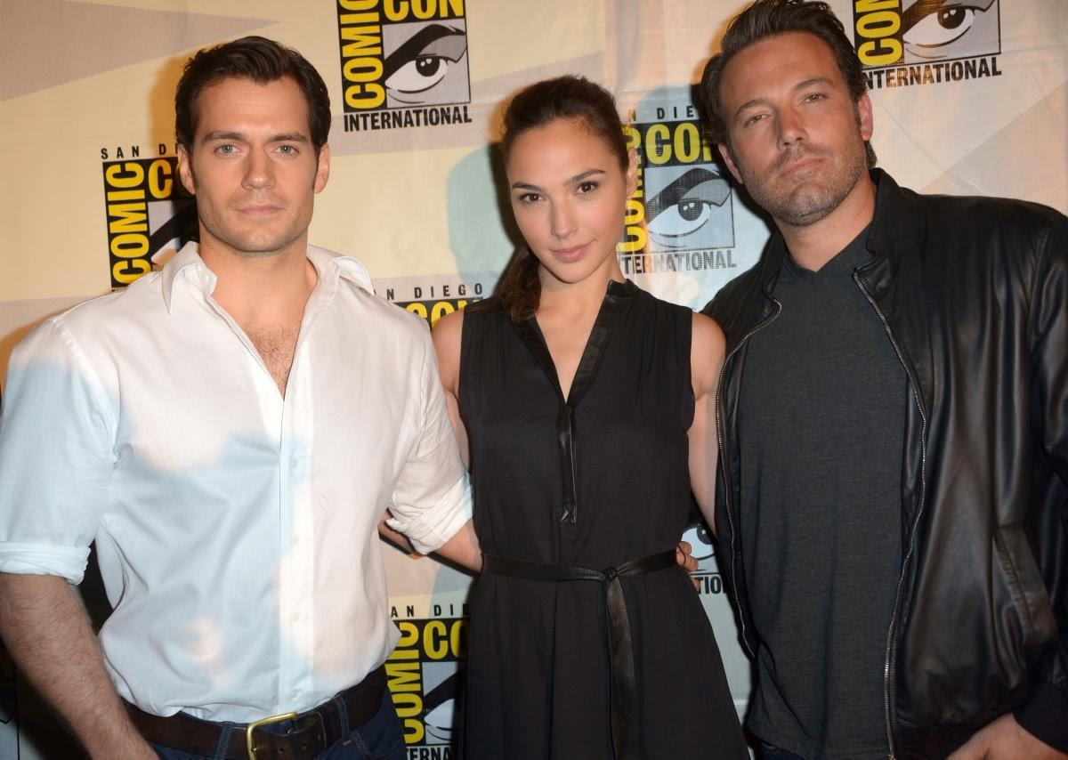 Henry Cavill Gal Gadot Ben Affleck Comic Con Batman Superman Wonder Dawn of Justice
