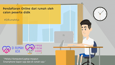Pendaftaran Online dari rumah oleh calon peserta didik #DiRumahAja