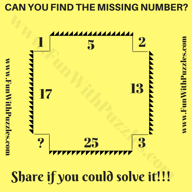Can you find the value of the missing number in the Mathematical Reasoning Brain Teaser?