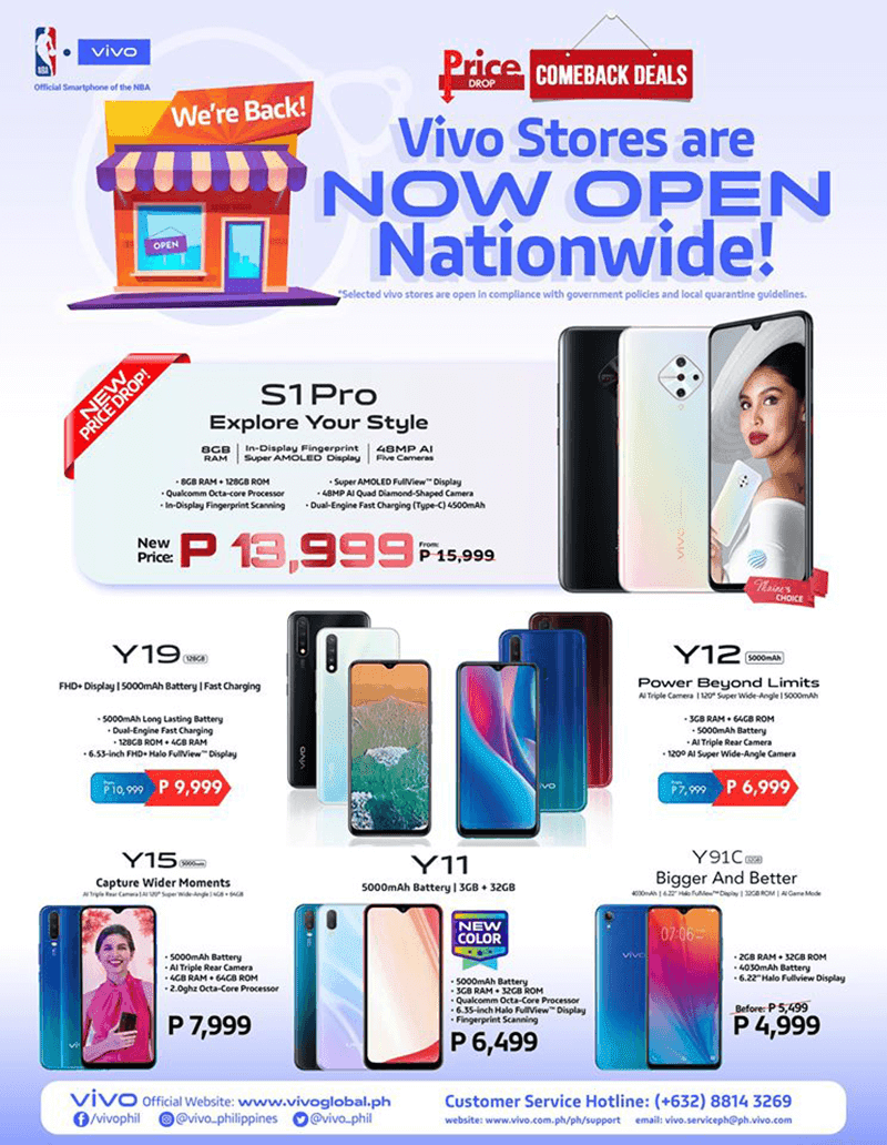 Vivo stores are now open nationwide, other vivo devices on sale