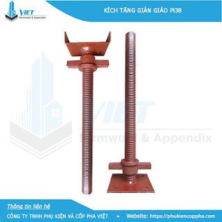 Kích giàn giáo được làm từ nguyên liệu chính là thép ống