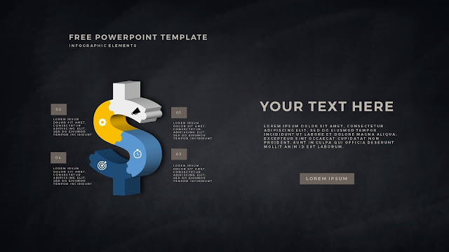Free PowerPoint Template with 3D Puzzle and Sign Infographic Elements Slide 9