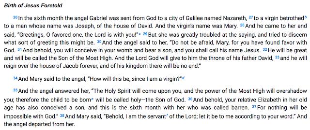Birth of Jesus Foretold.