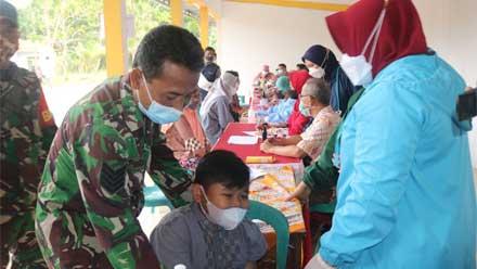 Kodim 0708 Purworejo Adakan Vaksinasi untuk Warga Desa Wonoroto