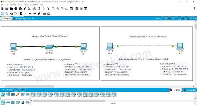 Membuat Jaringan Peer to Peer dengan Cisco Packet Tracer