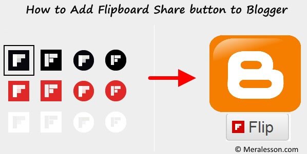 Flipboard Share button to Blogger  title=