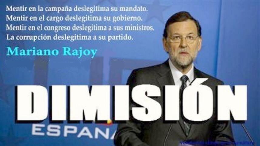 Una Plataforma Online logra 700 firmas por minuto para pedir la DIMISIÓN de Mariano Rajoy alfrente de las isntituciones públicas por vulneración de los Derechos Humanos y Libertades de la ciudadanía