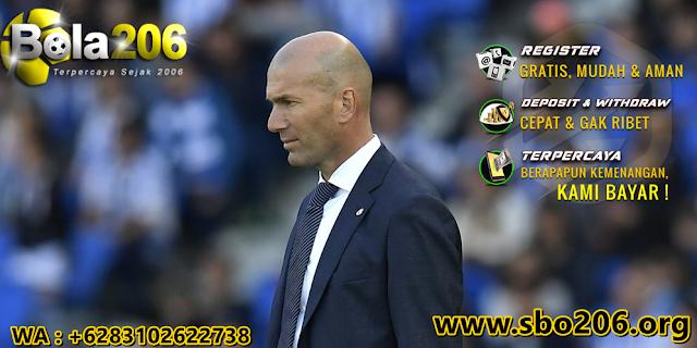 Zidane Sagat Beruntung Melatih Klub Besar