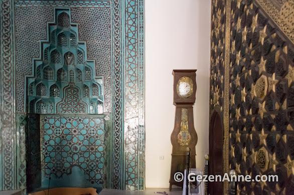 Aydınoğlu Mehmet Bey Cami (Ulu cami) mihrabı ve mimberi, Birgi köyü