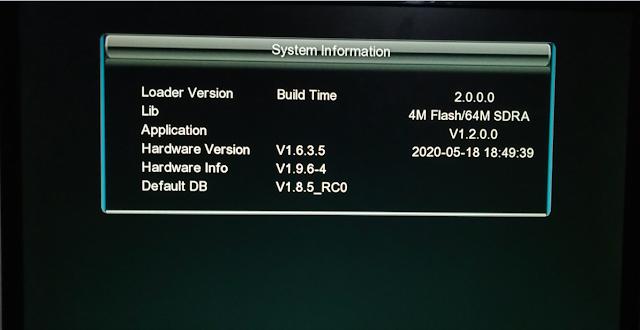 NATE 2030 GX6605S HD RECEIVER ORIGINAL DUMP FILE