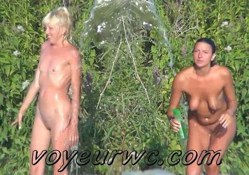 Spy Cam Waterfall Shower 25-34 (Naked women caught on spy cam taking shower natural waterfall)