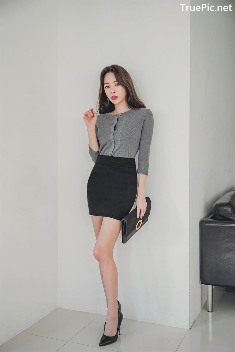 Image Korean Fashion Model - An Seo Rin - Office Dress Collection - TruePic.net - Picture-4
