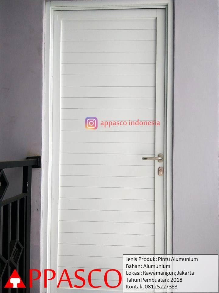 Pintu Kamar Aluminium Minimalis Modern di Rawamangun
