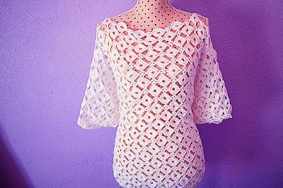 3 -CROCHET IMAGEN Blusa con mangas a crochet y ganchillo. MAJOVEL CROCHET