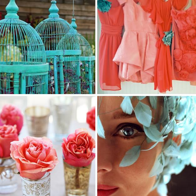 Color Palette's We're Loving- Aqua And Coral