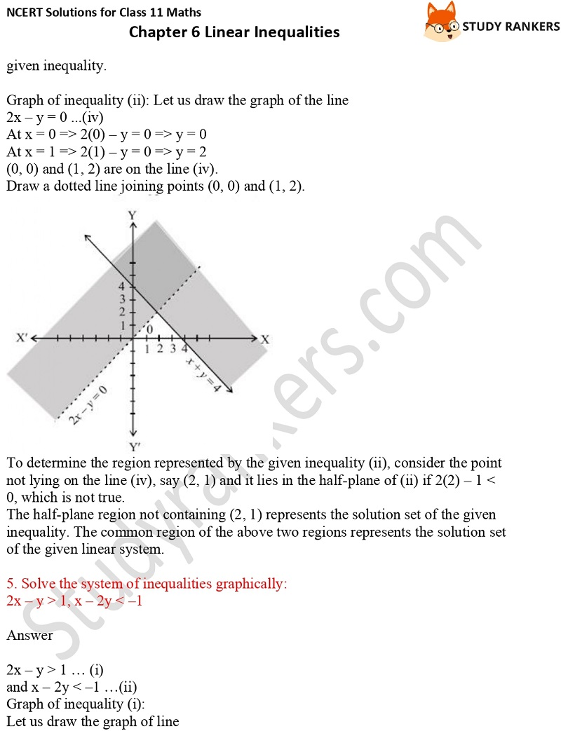 NCERT Solutions for Class 11 Maths Chapter 6 Linear Inequalities 20