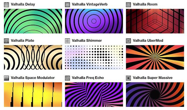 Interfaces dos Plugins Valhalla DSP - Bundle 2021.4