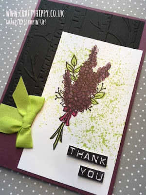 Have a go at using the Lots of Lavender stamp set by Stampin' Up! to create a beautiful bunch of flowers card