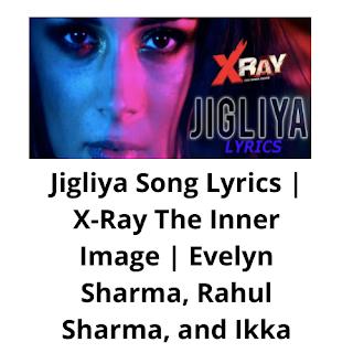 Jigliya Song Lyrics, Jigliya hindi lyrics,hindi lyrics of Jigliya, Jigliya, Jigliya lyrics of X-ray, X-Ray the inner image