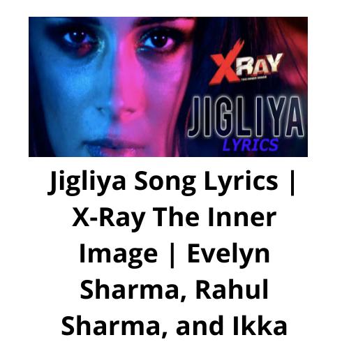 Jigliya Song Lyrics | X-Ray The Inner Image | Evelyn Sharma, Rahul Sharma, and Ikka