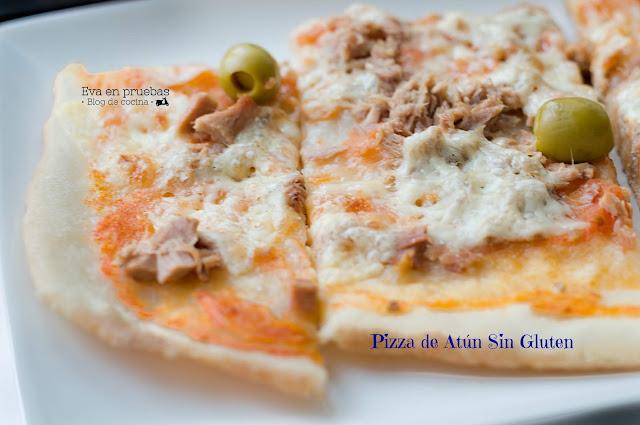 Pizza #SinGluten de Atún