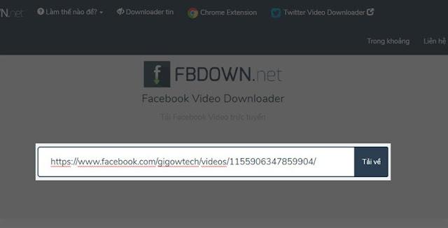 Dán link video facebook
