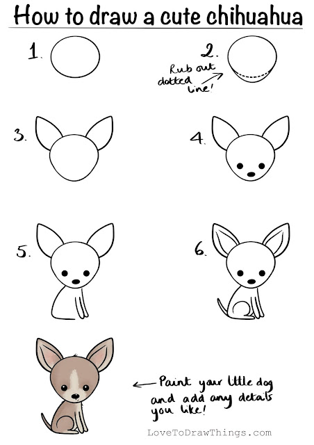 Easy step by step how to draw a chihuahua