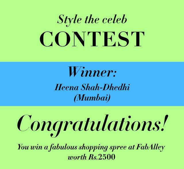 Style A Celeb With FabAlley, Blog Contest