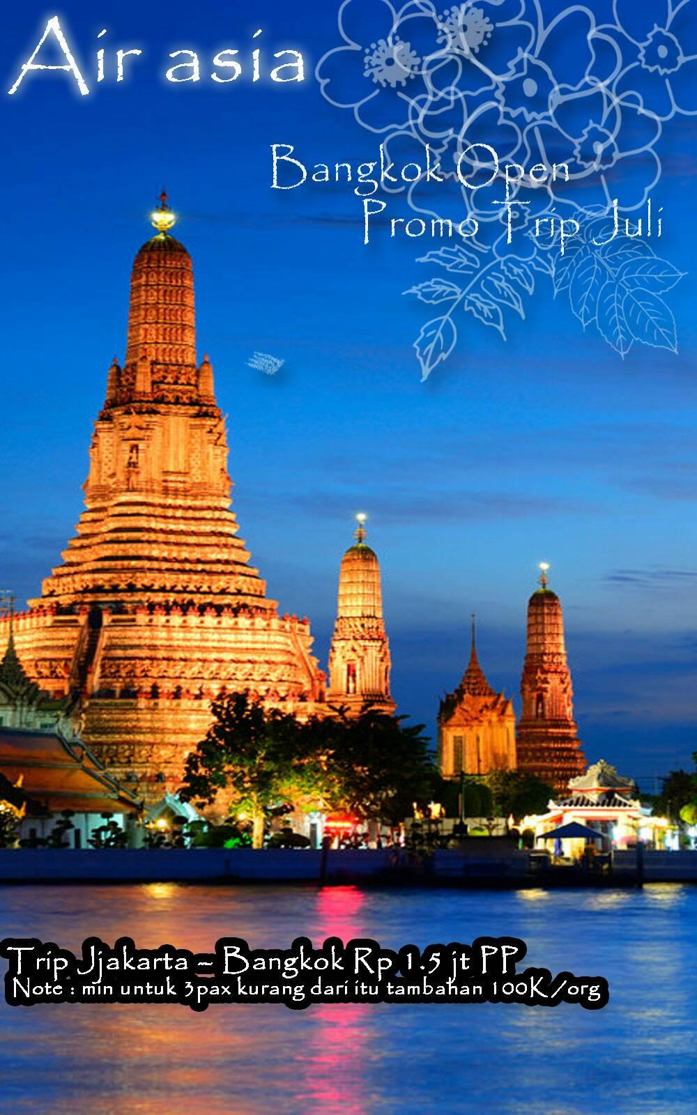 Promo Tiket Pesawat Air Asia Destinasi Bangkok Ka Tour Travel