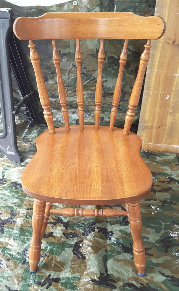 oak chair before