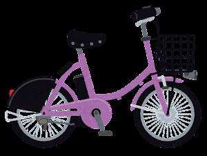 シェア自転車のイラスト(紫)