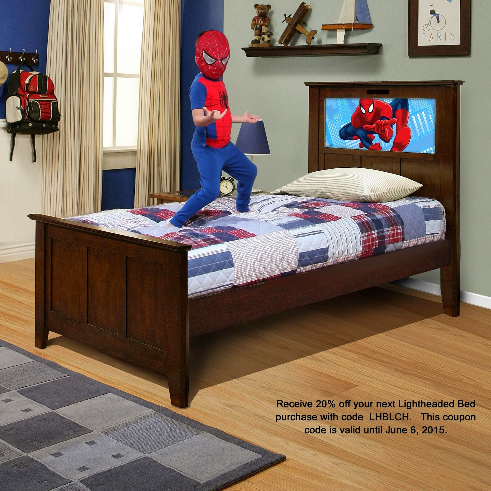 Luxury Frozen light up headboard Lightheaded beds Marvel Avengers