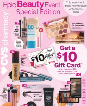 CVS Gift Card Epic Beauty Event