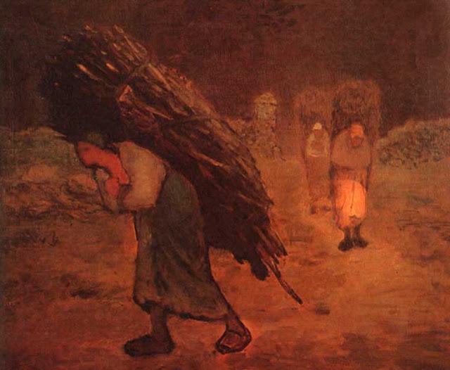 Жан Франсуа Милле - Зима. Собиратели хвороста. 1875