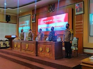 Dandim Jepara Hadiri Rapat Kunjungan Tim Satgas Covid-19