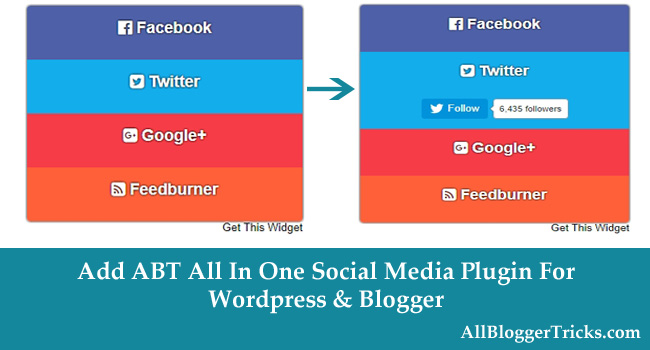 All In One Dropdown Social Media Follow Us Plugin For Blogger, WP