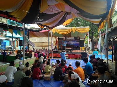 Sambutan dari ketua panitia milad serikat pekerja : Indrawan