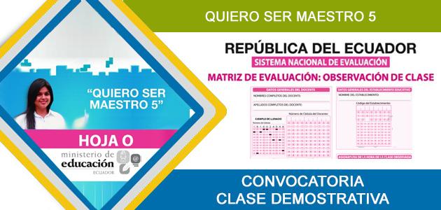 Quiero ser maestro 5 Matriz Ficha  de Evaluación Clase Demostrativa