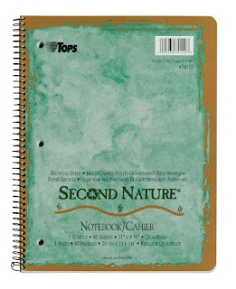 TOPS Second nature notebook with green cover