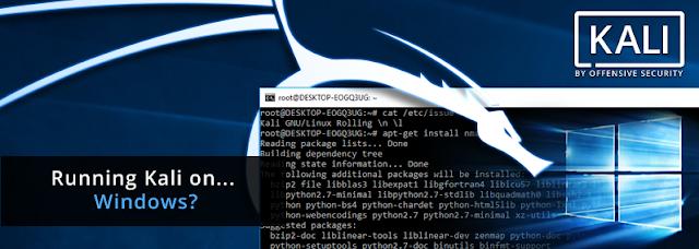 طريقة تثبيت كالي لينكس على ويندوز 10