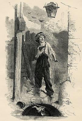 Emile Bayard dessine le Gavroche de Victor Hugo sous les traits d'un gamin joyeux