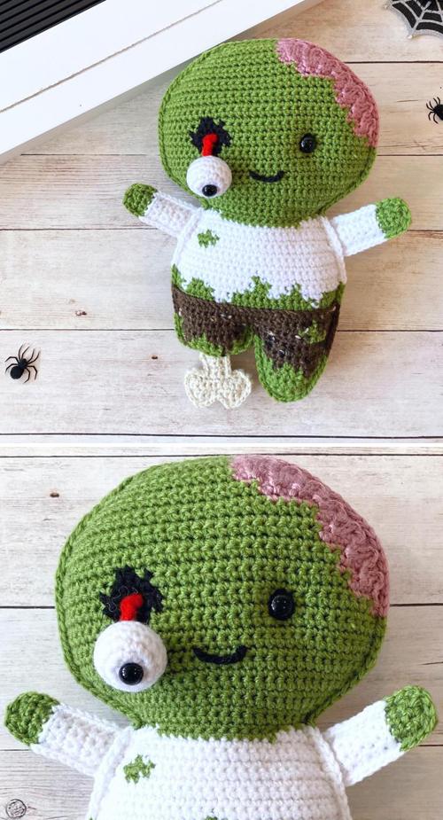 Zombie Amigurumi - Free Crochet Pattern