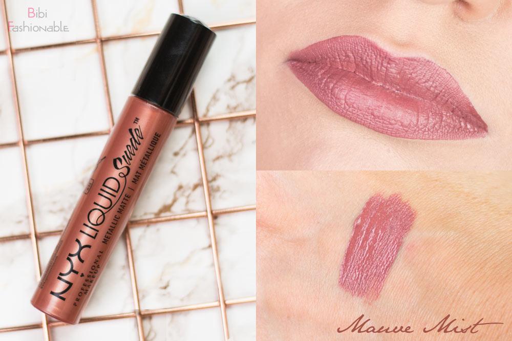 NYX Liquid Suede Metallic Matte Creme Lipstick LSCL29 Mauve Mist inkl Swatches