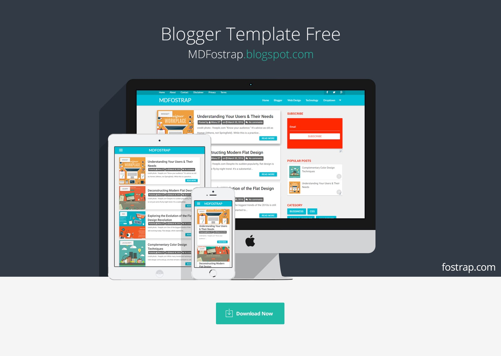 Free Material Design Template For Blogger