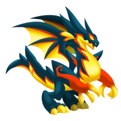 Appearance of Dark Ash Dragon when adult