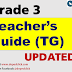 TEACHER'S GUIDE (TG) GRADE 3 K-12 UPDATED!!