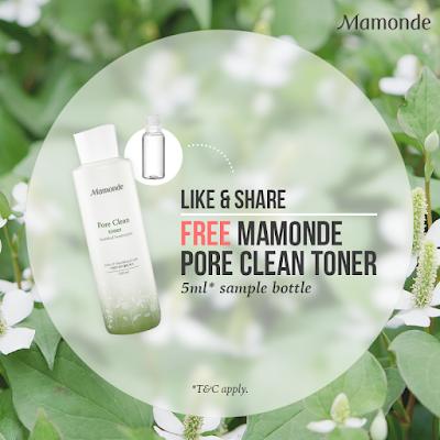 Mamonde Pore Clean Toner Free Sample Giveaway